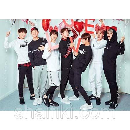"""BTS / БТС"" плакат А3 в ламинации"
