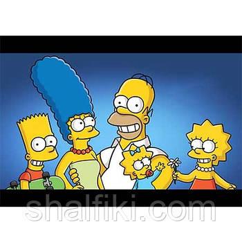 """""""The Simpsons / Симпсоны"""" плакат А3 в ламинации"""