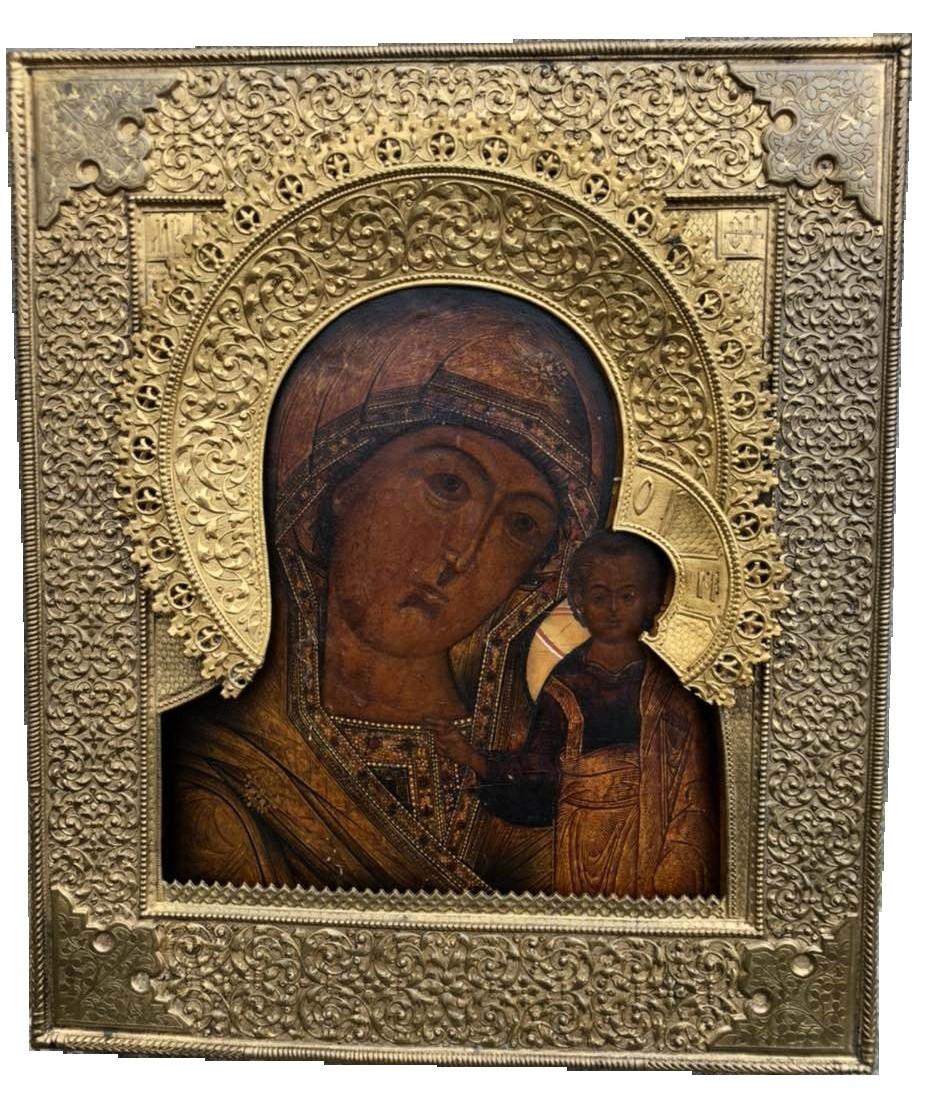 Казанская икона Божьей матери 18 век