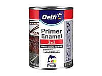 Грунт-емаль по іржі 3 в 1, темно-коричнева - 0,9 кг ТМDELFI
