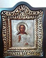 Икона Спас Вседержитель 19 век серебро 84 пр.