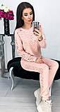 Костюм женский брючный спортивный с гипюром карманами и манжетами 42 44 46 48 50 Р, фото 3