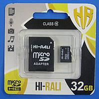 Карта памяти microSD Hi-Rali 32GB 10 class (SD adapter)