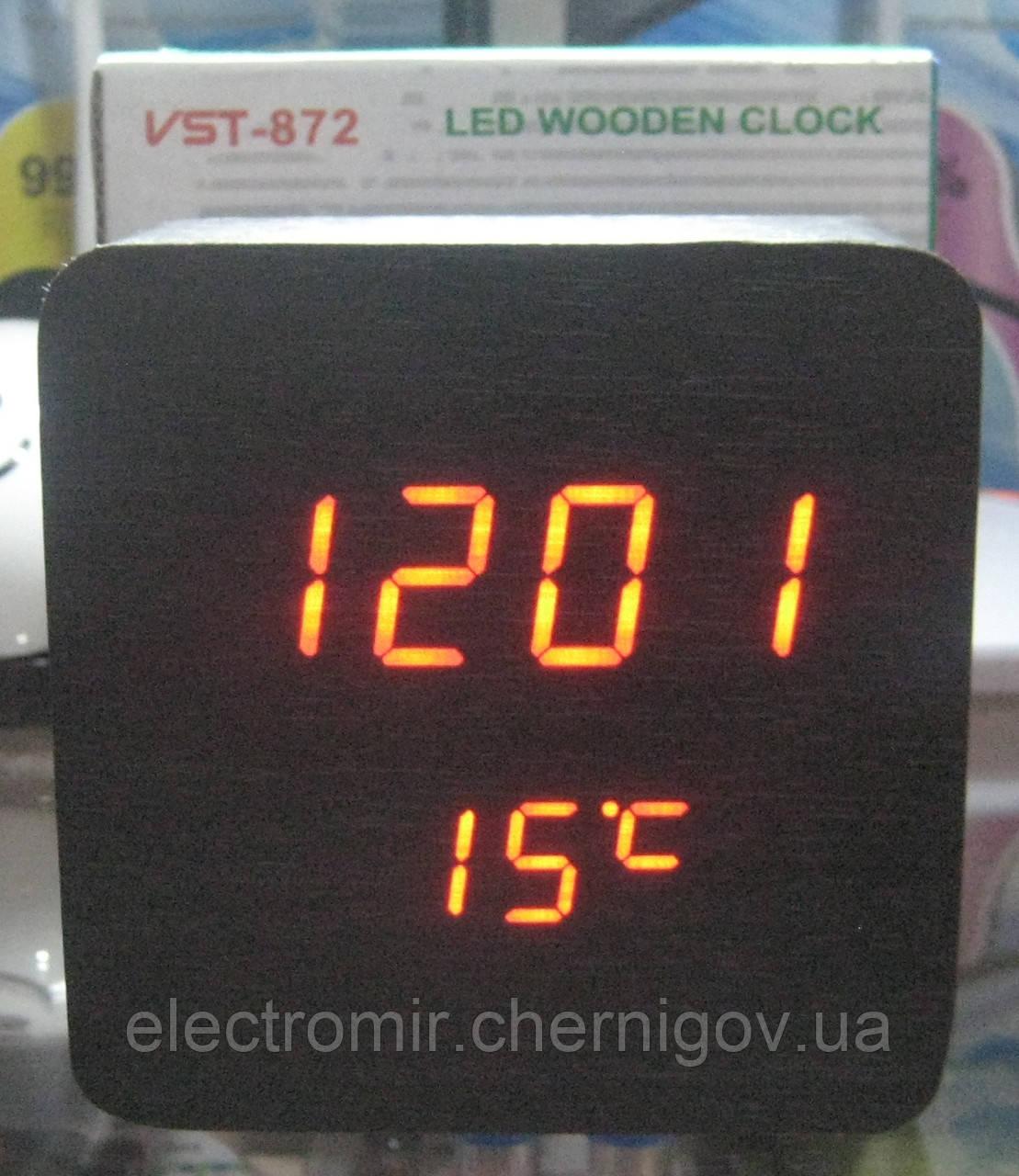 Часы электронные VST-872 (красная подсветка, дата, температура)