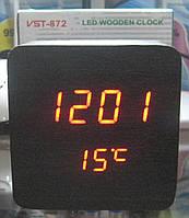 Часы электронные VST-872 (красная подсветка, дата, температура), фото 1
