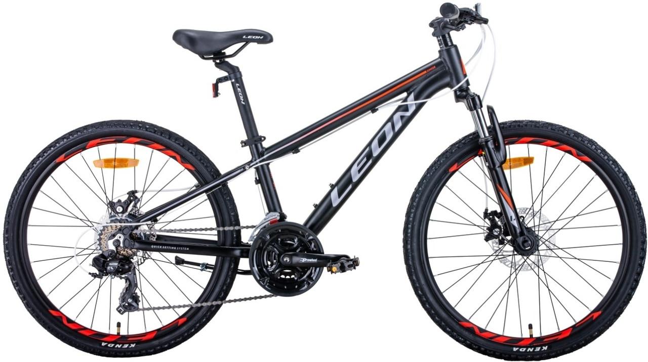 """Велосипед 24"""" Leon JUNIOR AM DD 2020 (черно-оранжевый с серым (м))"""