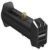 2 в 1 - Зарядное устройство + Power Bank Nitecore F2 (4,2V/5V, 2х1000mA, USB)