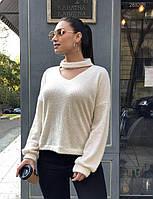 Женственный ангоровый свитер, р.56-58