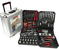 Набір інструментів AL-FA 187 одиниць, в кейсі на коліщатках, БЕЗ ТРЕЩОТКИ-ЯКІСТЬ ІТАЛІЯ!
