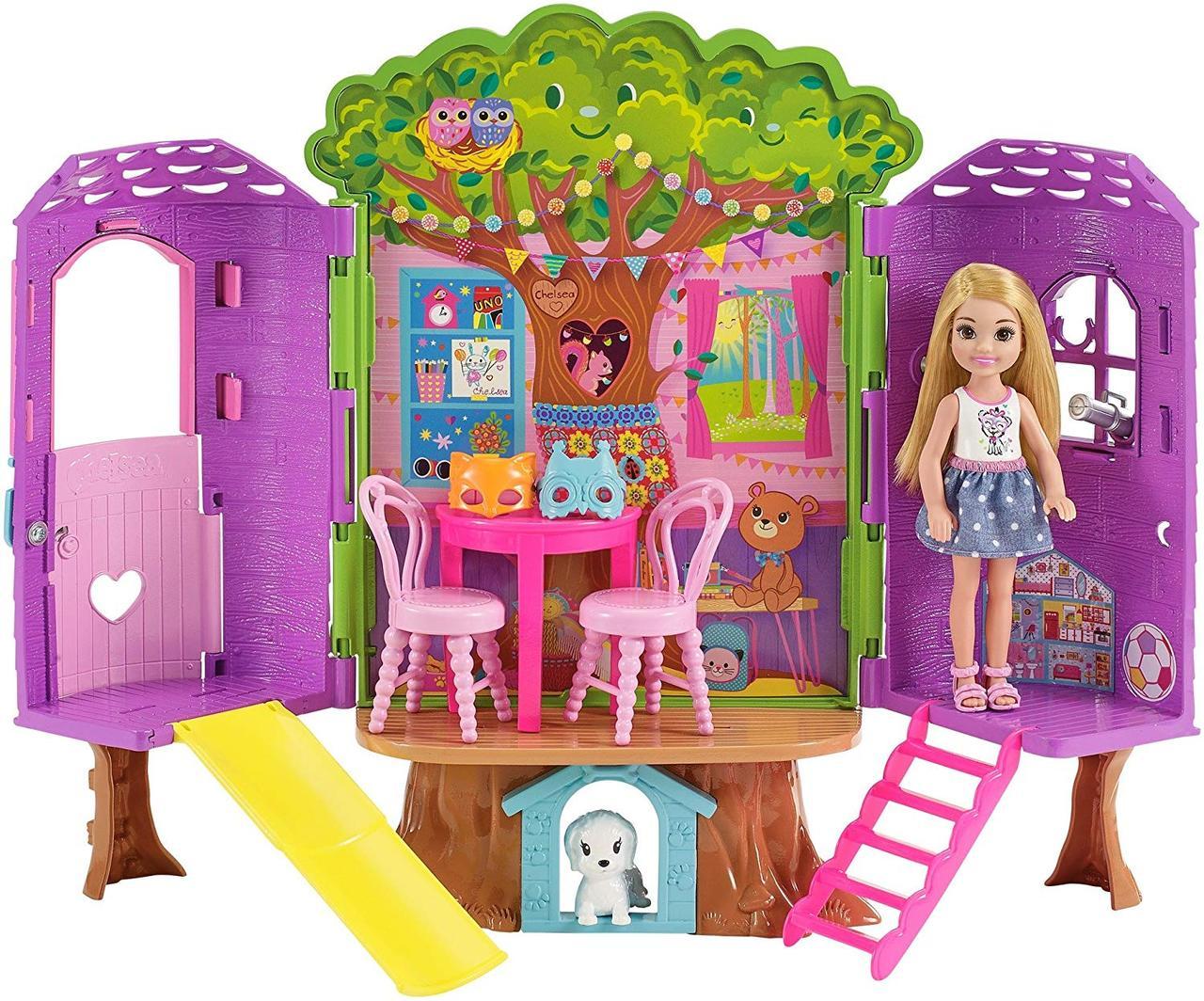 "Набор Кукла Барби Челси ""Дом на дереве"" Barbie Club Chelsea Treehouse House Playset Оригинал из США"