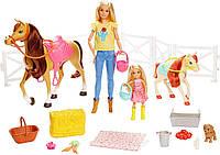 """Набор Барби и Челси с лошадками """"Верховая езда"""" Barbie Hugs Horses Playset, Mattel Оригинал из США"""