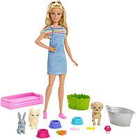 "Игровой набор Барби ""Купай и играй"", Barbie Play 'N' Wash Pets Doll, Mattel Оригинал из США, фото 1"