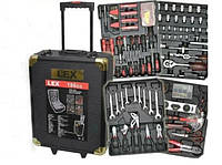 Набор инструментов, ключей LEX 186CC 186 предметов, в кейсе на колесиках