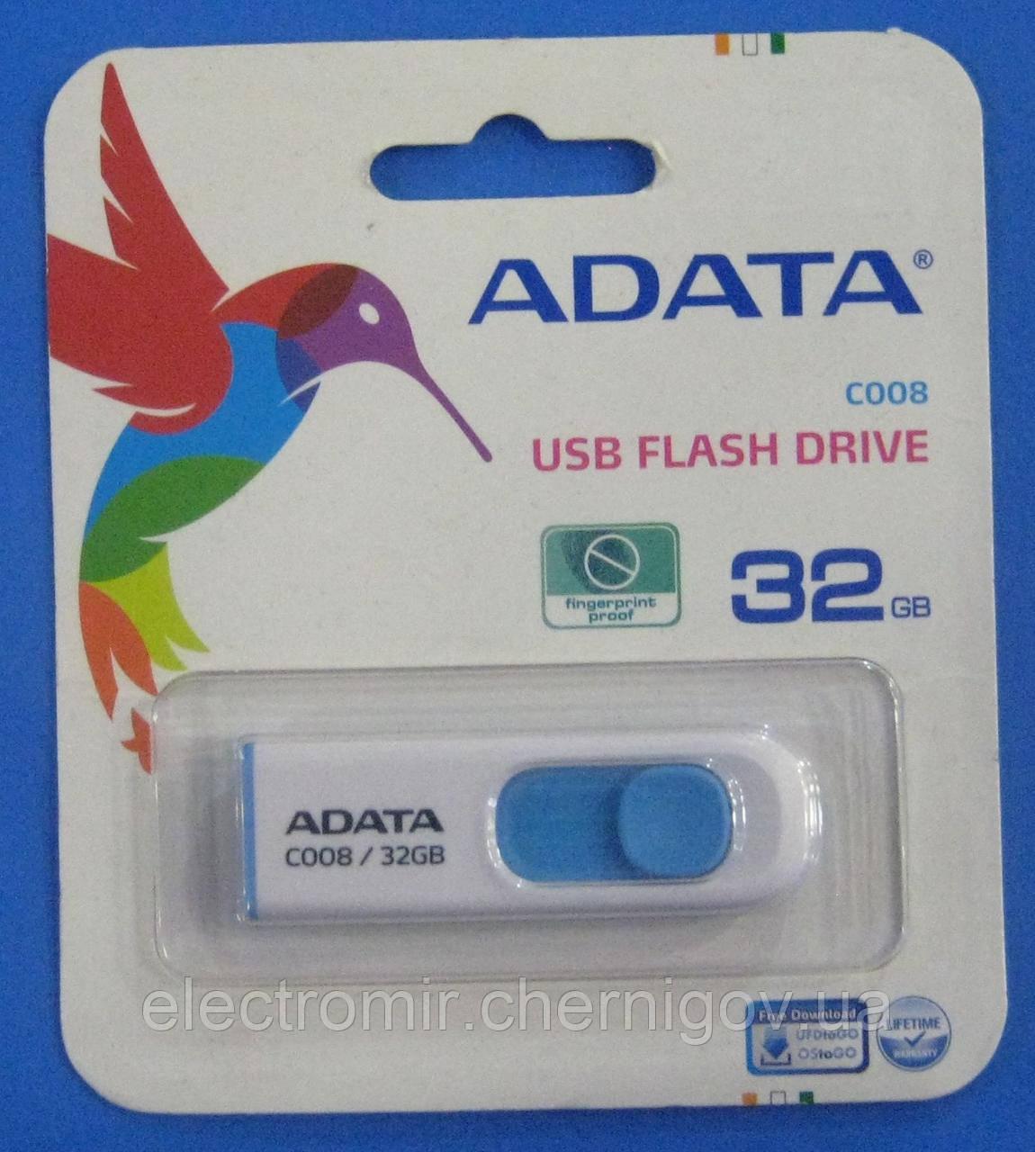 USB флешка ADATA 32GB C008 (синя)