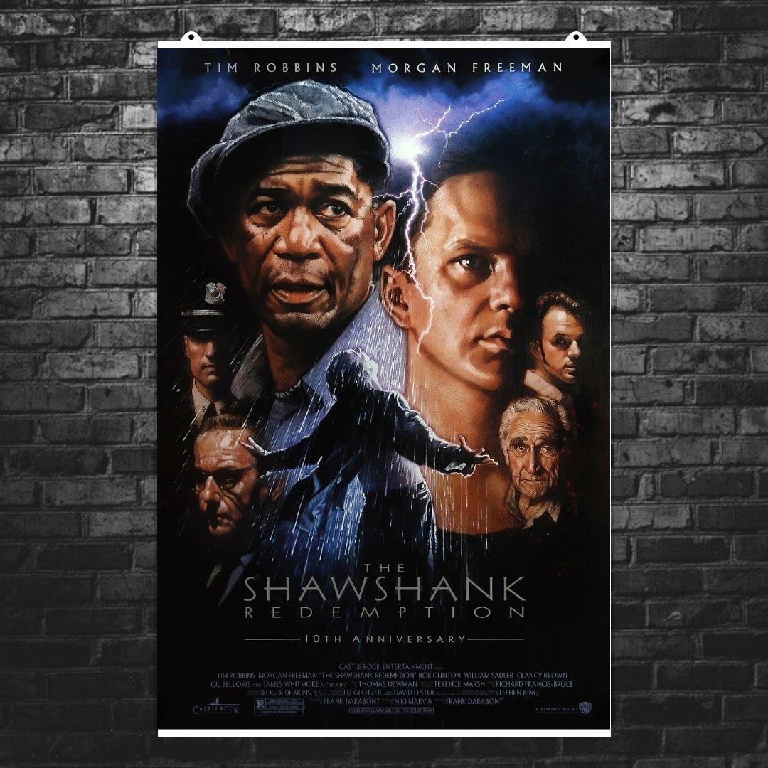 "Постер ""Побег из Шоушенка (The Shawshank Redemption)"", Стивен Кинг, Морган Фримен. Вариант №1. Размер 60x40см (A2). Глянцевая бумага"