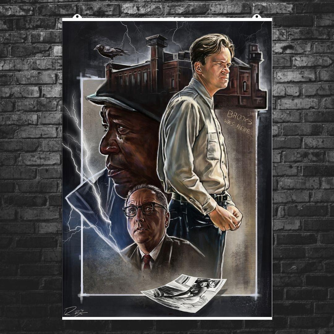 "Постер ""Побег из Шоушенка (The Shawshank Redemption)"", Стивен Кинг, Морган Фримен. Вариант №2. Размер 60x45см (A2). Глянцевая бумага"