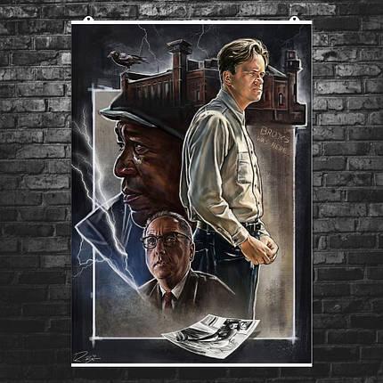 "Постер ""Побег из Шоушенка (The Shawshank Redemption)"", Стивен Кинг, Морган Фримен. Вариант №2. Размер 60x45см (A2). Глянцевая бумага, фото 2"