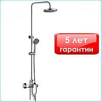 Душевая система (стойка) с верхним и ручным душем со смесителем для ванной с поворотным изливом НВVіtо Chr