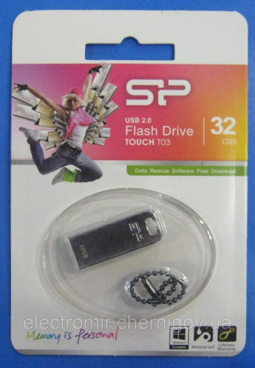 USB флешка Silicon Power 32GB T03 (серебристая)