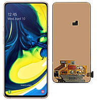 Дисплей (LCD) Samsung GH82-20348A A805 Galaxy A8 (2019) с тачскрином, золотистый, сервисный оригинал