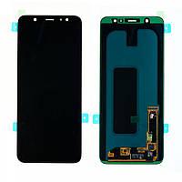 Дисплей (LCD) Samsung A605 Galaxy A6 Plus (2018) AMOLED з тачскріном, чорний, оригінал (PRC)