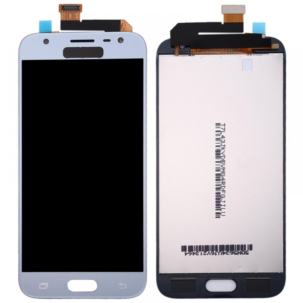 Дисплей (LCD) Samsung J330 Galaxy J3 (2017) с тачскрином, голубой, оригинал (Factory Refurbished)