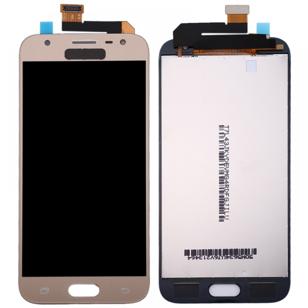 Дисплей (LCD) Samsung J330 Galaxy J3 (2017) с тачскрином, золотистый, оригинал (Factory Refurbished)