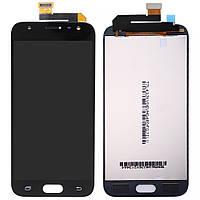 Дисплей (LCD) Samsung J330 Galaxy J3 (2017) с тачскрином, черный, оригинал (Factory Refurbished)