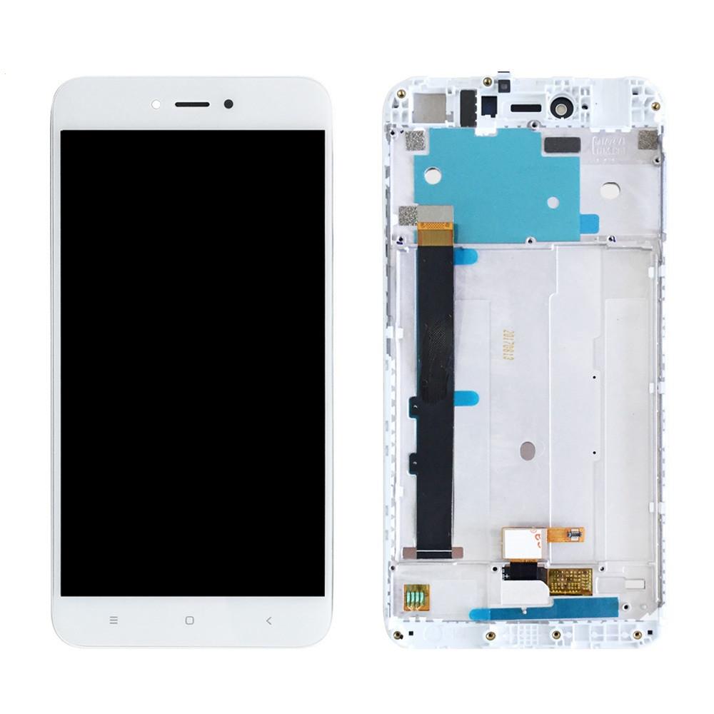 Дисплей (LCD) Xiaomi Redmi Note 5A | Redmi Y1 Lite (2/16) с тачскрином и рамкой, белый