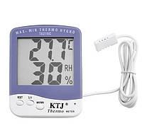 Цифровий термометр, гігрометр Ta218c з виносним датчиком, фото 1