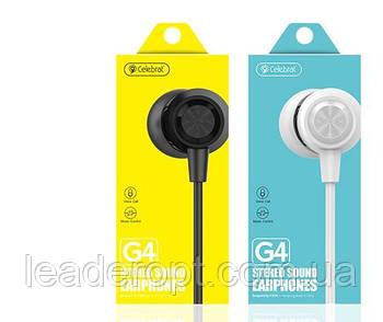 ОПТ Дротові навушники вакуумні Celebrat G4 з мікрофоном