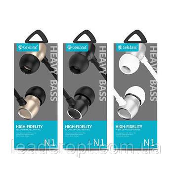 ОПТ Дротові навушники вакуумні Celebrat N1 з мікрофоном