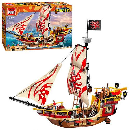 Конструктор BRICK 1311 пиратский корабль (368 дет.)