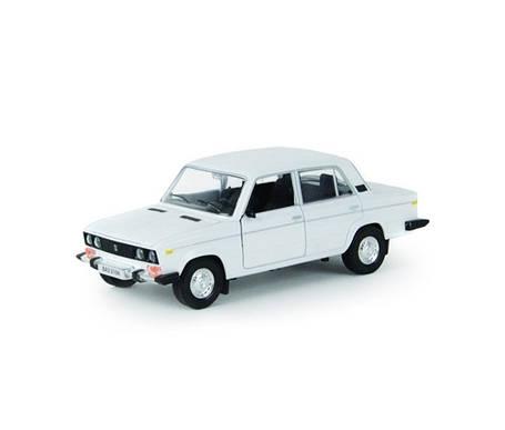 Металическая машинка 2106 Автопром белая, фото 2