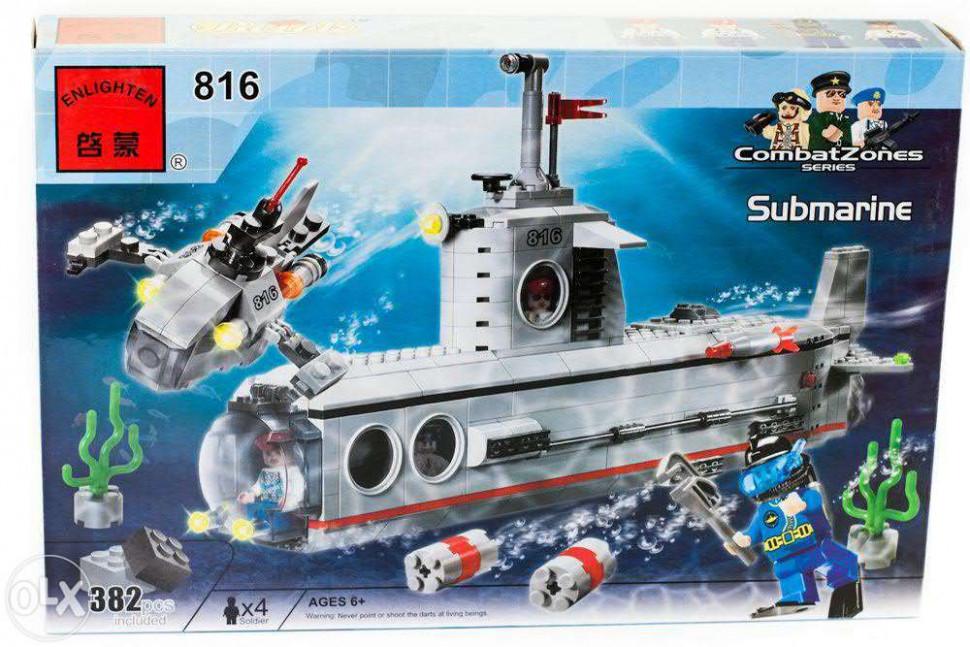 Конструктор BRICK 816 субмарина 382 дет, в кор-ке