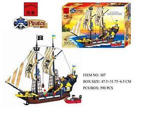 Конструктор BRICK 307 пиратский корабль, фото 2