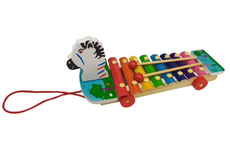 Деревянная игра Ксилофон (Зебра) / Музыкальные игрушки / Развивающие игрушки