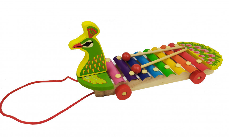 Деревянная игра  Ксилофон (Павлин) / Музыкальные игрушки / Развивающие игрушки