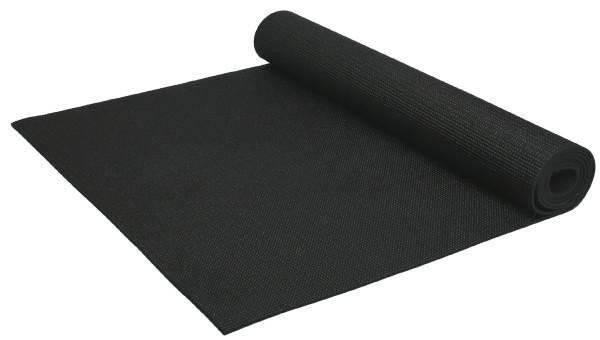 Йогамат чорный, коврик для фитнеса, коврик для йоги, фото 2