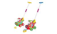 Каталка вертолет на палочке /  Музыкальная игрушка / Развивающая игрушка