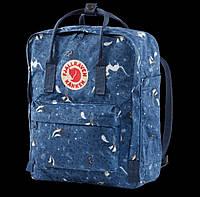 Рюкзаки Kanken Fjallraven 16л синий с белый цвет
