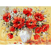 Картина по номерам  Букет маков. Худ. Антонио Джанильятти, 40x50 см., Babylon