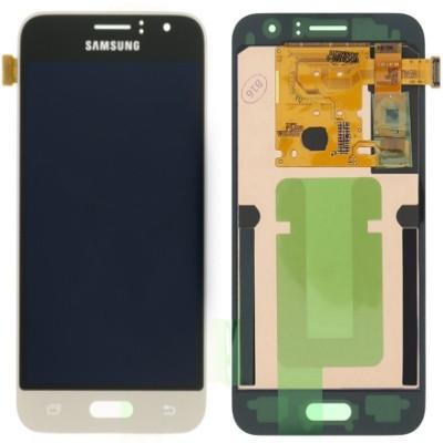 Дисплей (екран) для Samsung J120H Galaxy J1(2016) з сенсором (тачскріном) золотистий з регулюванням (TFT)