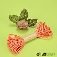 Канат декоративний з люрексом (10 м), помаранчевий
