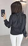 """Блузка в горошек с бантом на спине """"Эстер"""", фото 2"""