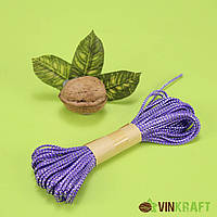 Канат декоративний з люрексом (10 м), фіолетовий