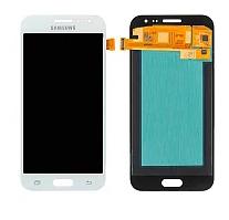 Дисплей (экран) для Samsung J200F Galaxy J2 с сенсором (тачскрином) белый с регулировкой (TFT)