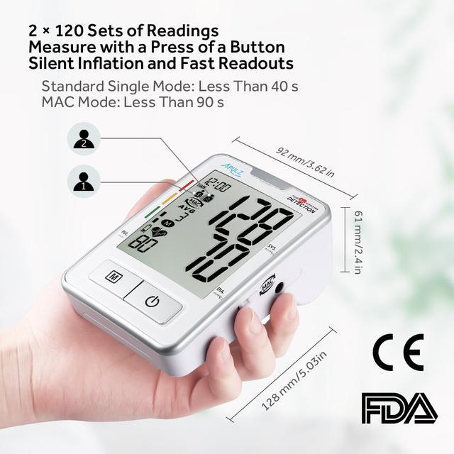 Тонометр автоматический манометр для измерения артериального давления и пульса с LCD экраном