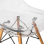 Стул Тауэр Вуд А прозрачный акрил, ножки дерево (Прайз), Eames, фото 6