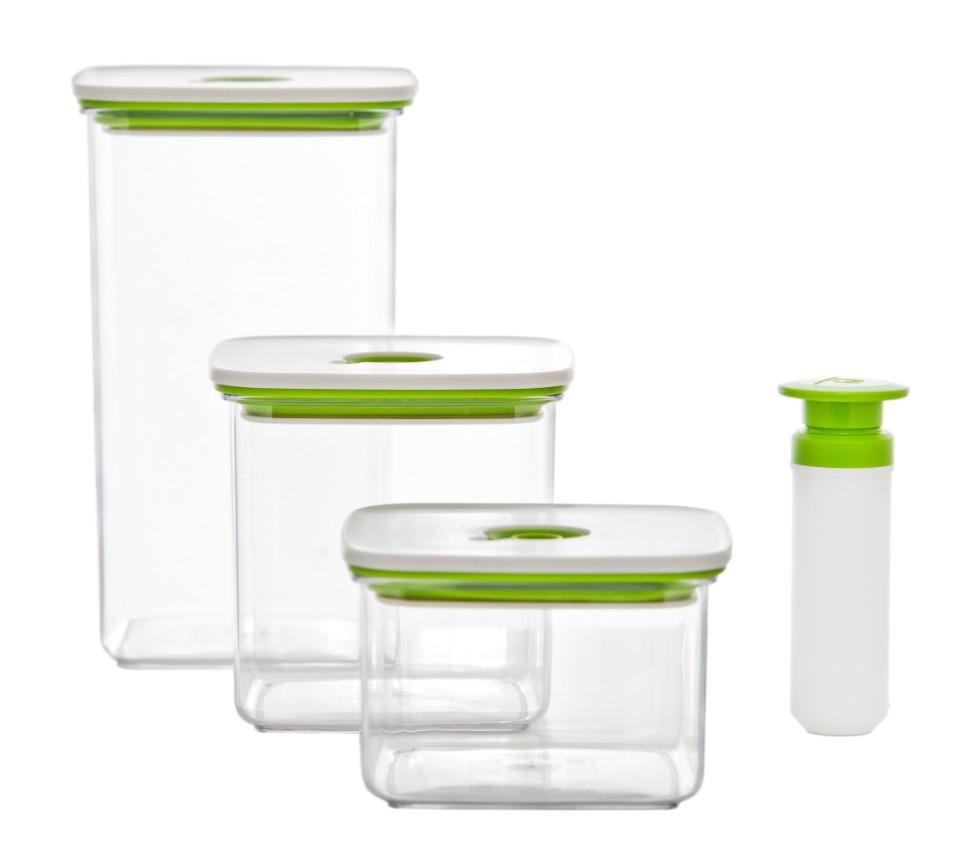 Набір вакуумних контейнерів Crystal CRS2B03-01P4 3 шт + насос
